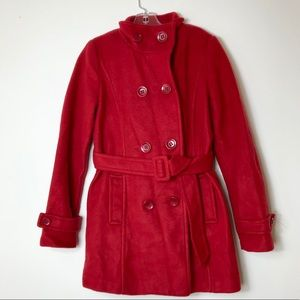 Forever 21  Red Trench Coat Size Small Petite